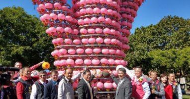 日月潭風景區首辦燈會 「兩美」打造三育「森林燈會」